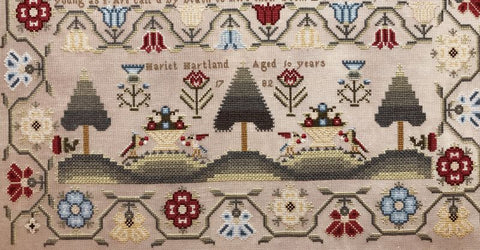 Hands Across The Sea Samplers ~ Hariet Harland 1782