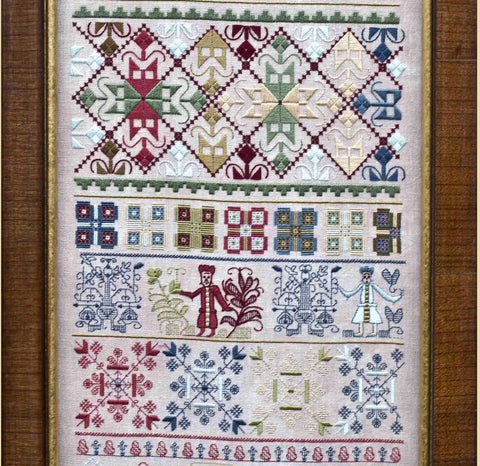 Hands Across The Sea Samplers ~ Jane Vaughan 1724
