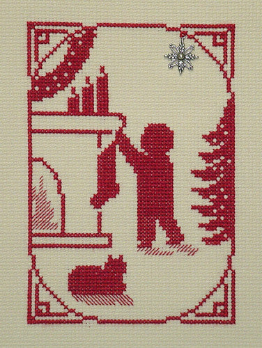 Handblessings ~ Boy Hanging Stocking w/charm