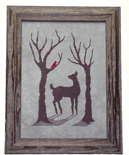 Handblessings ~ Deer in the Winter Mist