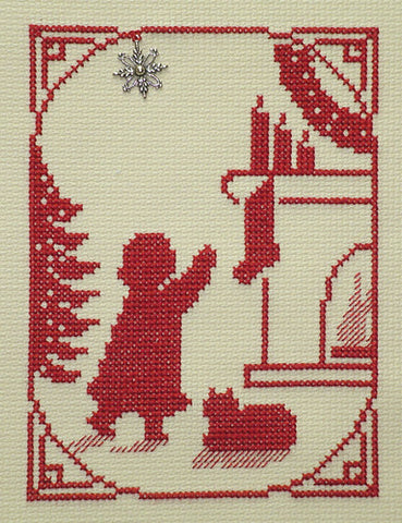 Handblessings ~ Girl Hanging Stocking w/charm