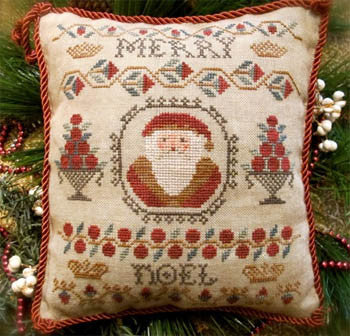 Homespun Elegance ~ Merry Noel Santa Sampler