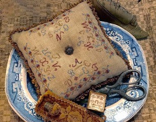 Homespun Elegance ~ Alphabet Pillow