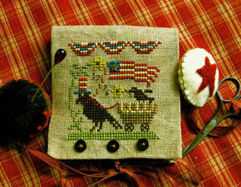Homespun Elegance ~ Uncle Sam Crow w/embs.