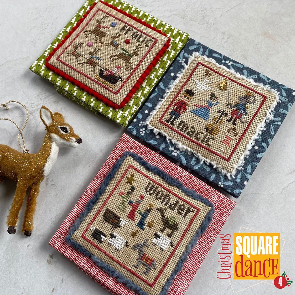 Heart In Hand ~ Christmas Square Dance #4 w/embellishments