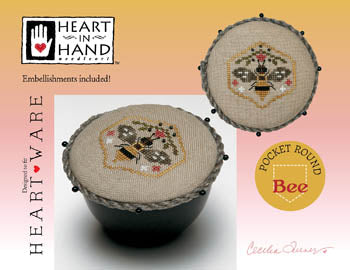 Heart In Hand ~ Pocket Round Bee