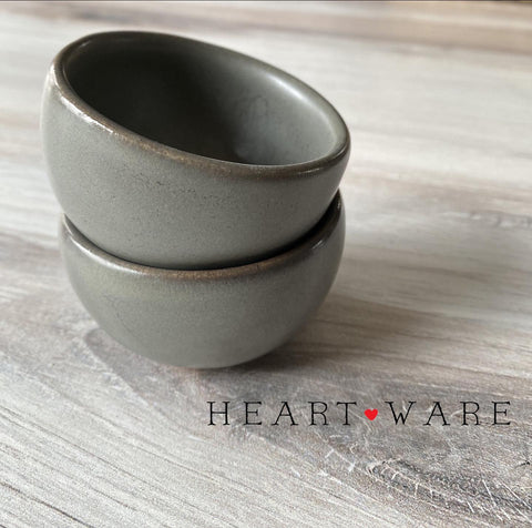 Heart In Hand ~ Heartware Gray Bowl