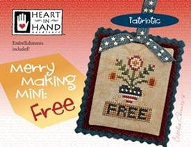 Heart In Hand ~ Merry Making Mini ~ Free w/emb