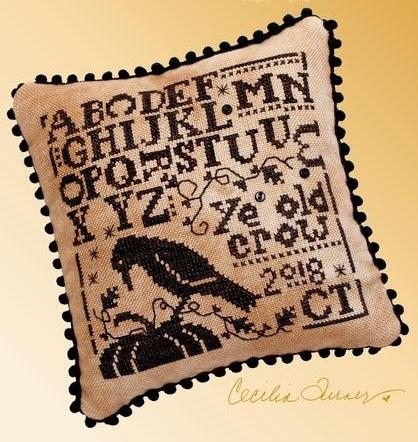 Heart In Hand ~ Ye Old Crow Sampler (w/embellishments)