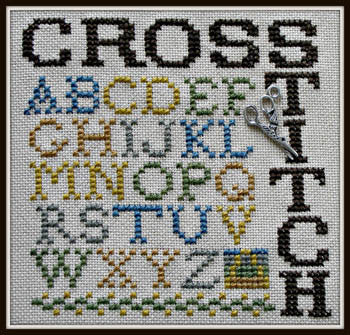 Hinzeit ~ Wordplay - Cross Stitch w/charm