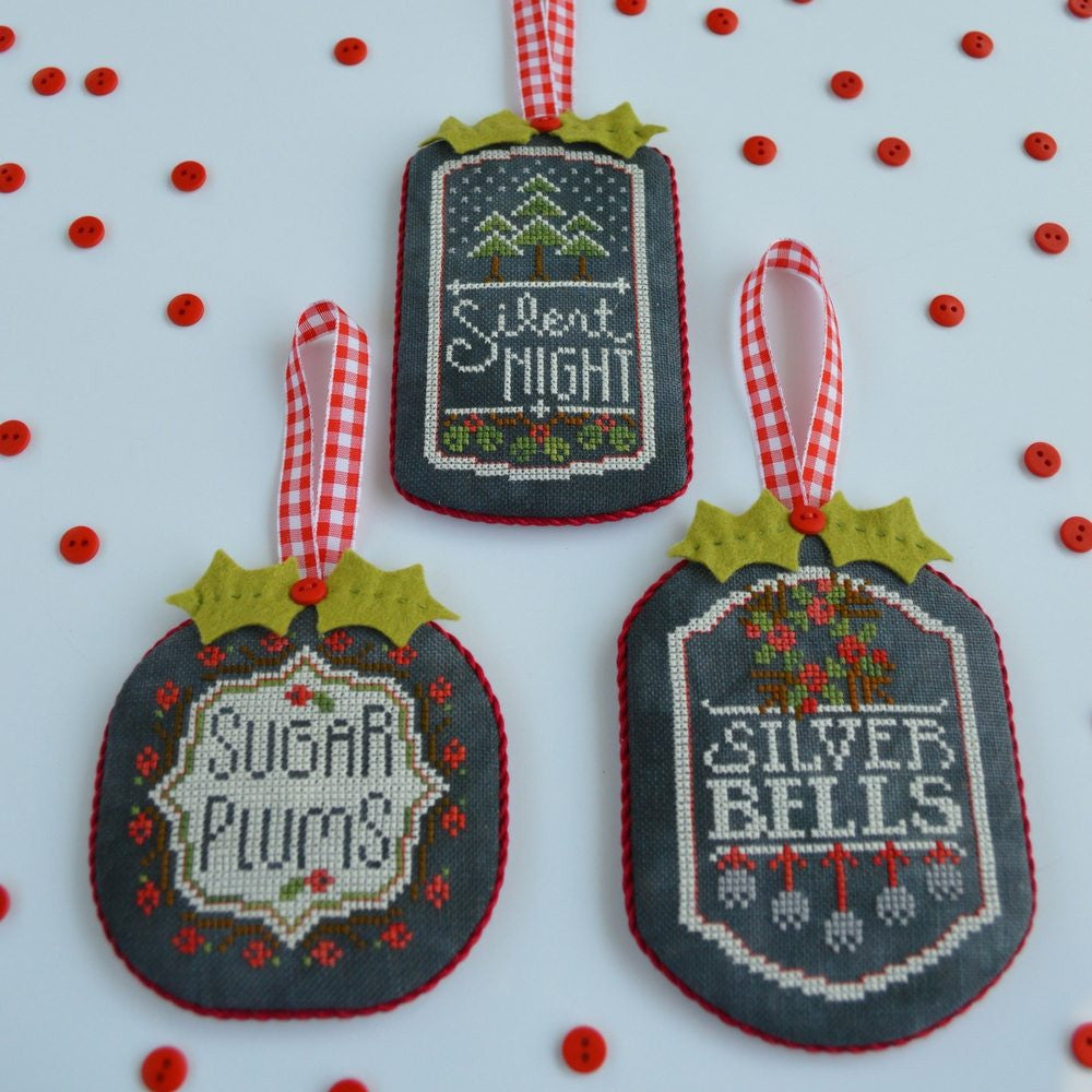 Hands On Design ~ Chalkboard Ornaments Part 3 w/embs.