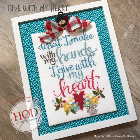 Hands On Design ~ Give With My Heart - PRE-ORDER for late June (read details!)!!!!