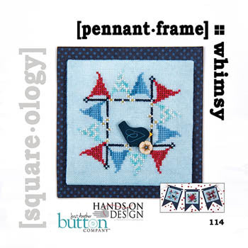 Hands On/JABC Square-ology ~ Pennant Frame w/embs.