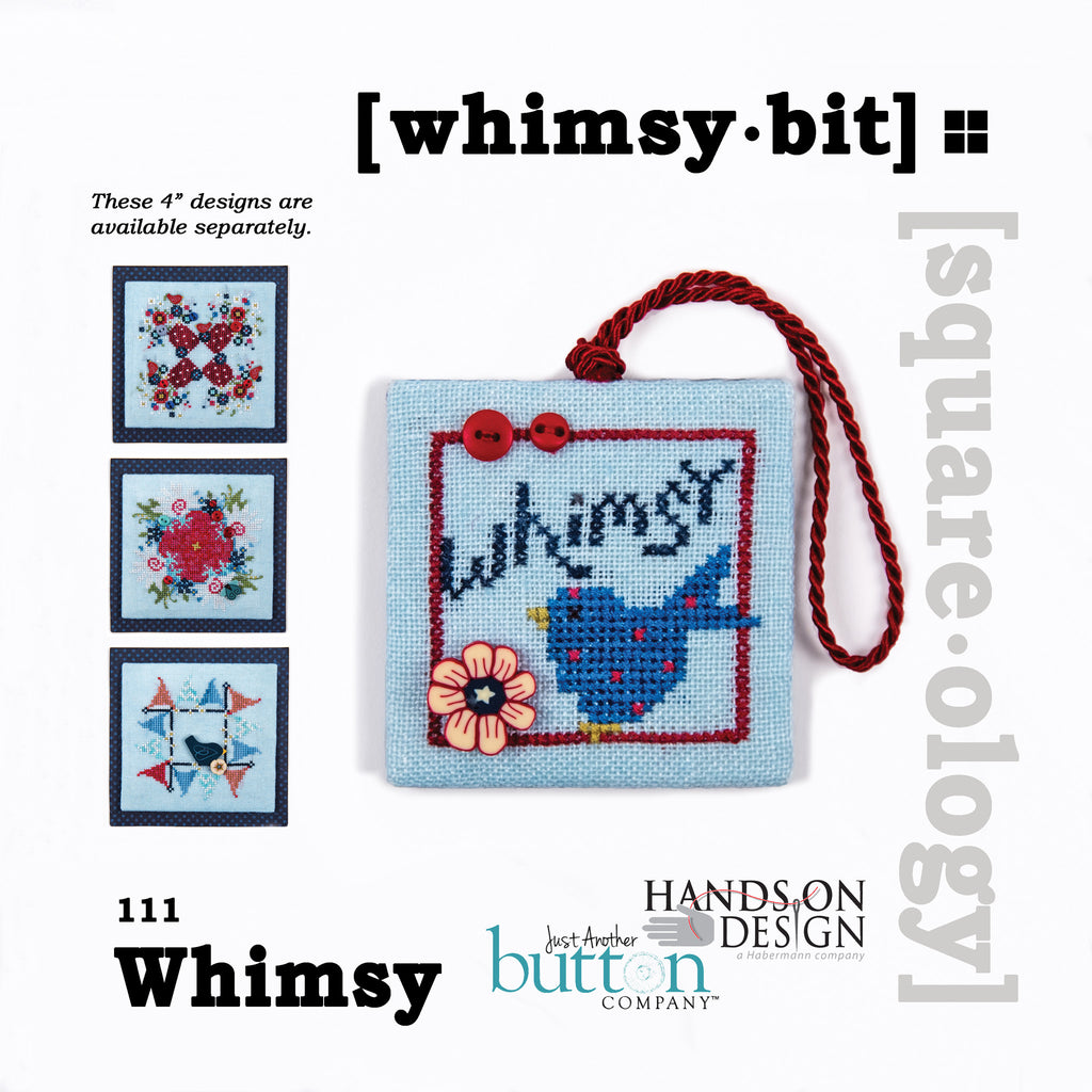 Hands On/JABC Square-ology ~ Whimsy Bit w/embs.