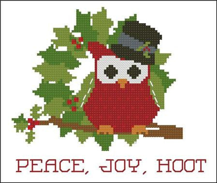 Hooties Collection/Pinoy Stitch ~ Christmas Peace, Joy, Hoot