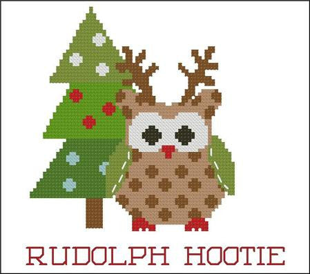 Hooties Collection/Pinoy Stitch ~ Christmas Rudolph
