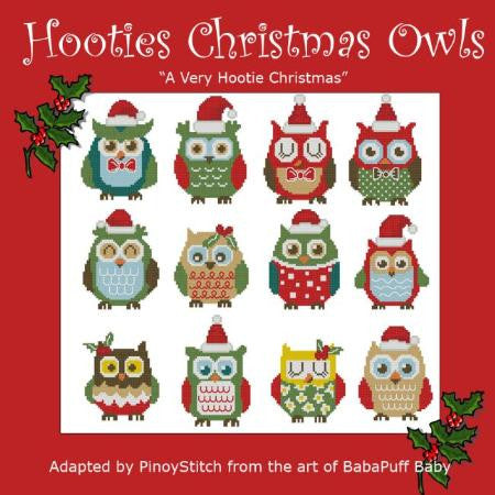 Hooties Collection/Pinoy Stitch ~ Christmas Owls Minis