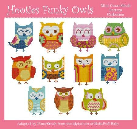 Hooties Collection/Pinoy Stitch ~ Funky Owls