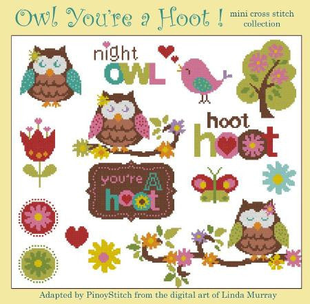 Hooties Collection/Pinoy Stitch ~ Owl - You're A Hoot