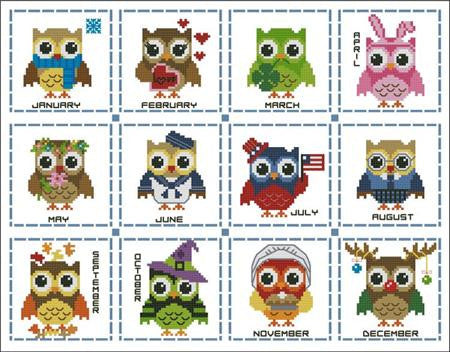Hooties Collection/Pinoy Stitch ~ Year Round Mini Collection