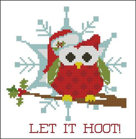 Hooties Collection/Pinoy Stitch ~ Christmas Let It Hoot