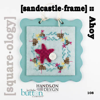 Hands On/JABC Square-ology ~ Sandcastle Frame w/embs.