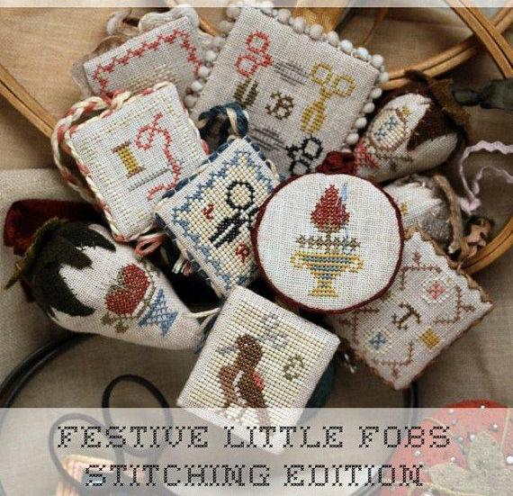 Heartstring Samplery ~ Festive Little Fobs 3 - Stitching Edition