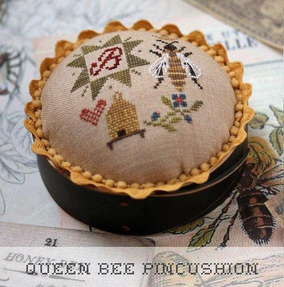 Heartstring Samplery ~ Queen Bee Pincushion