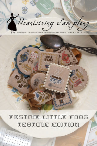 Heartstring Samplery ~ Festive Little Fobs 14 -  Teatime Edition
