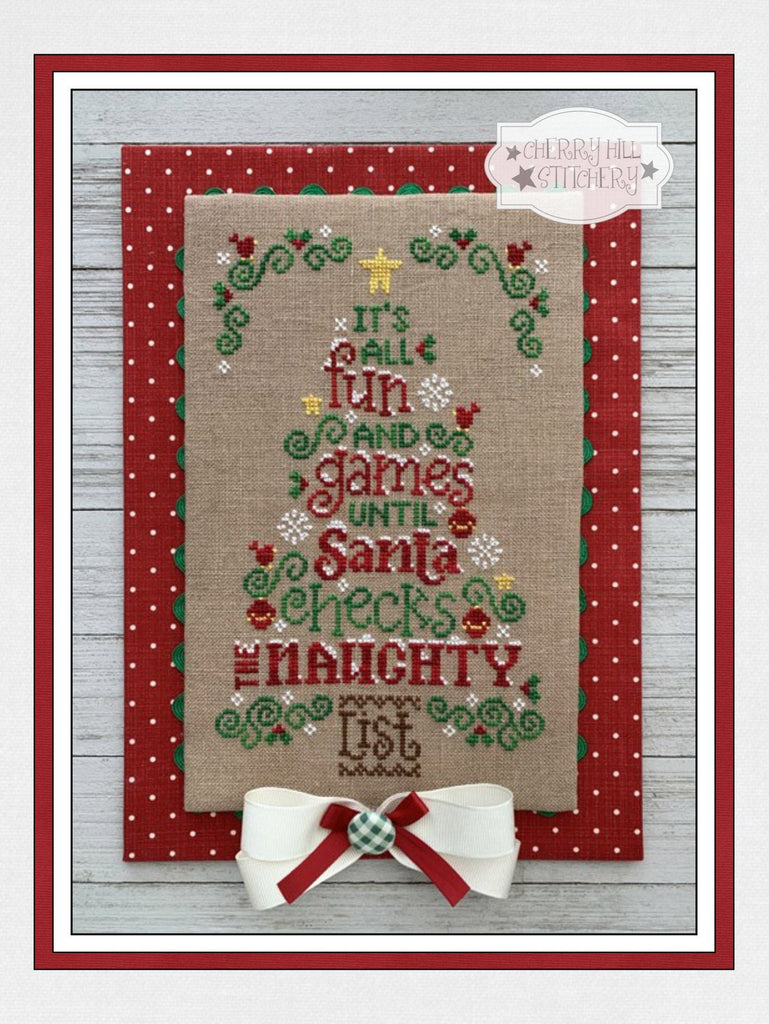 PDF ~ Cherry Hill Stitchery ~ The Naughty List PDF