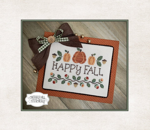 PDF ~ Cherry Hill Stitchery ~ Happy Fall PDF