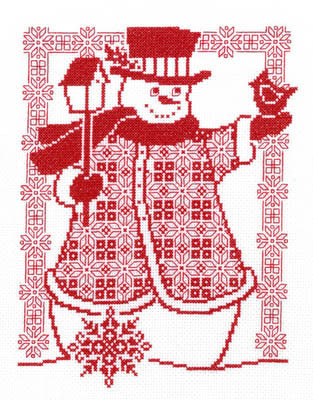 Imaginating ~ Redwork Snowman
