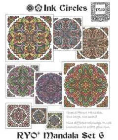 Ink Circles ~ RYO Mandala Set 6