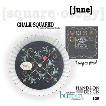 Hands On/JABC ~ Chalk Squared June w/buttons