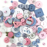JABC ~ Button Lover's Club: SWEET Words With Buttons Monthly Box **(Very limited # available!)