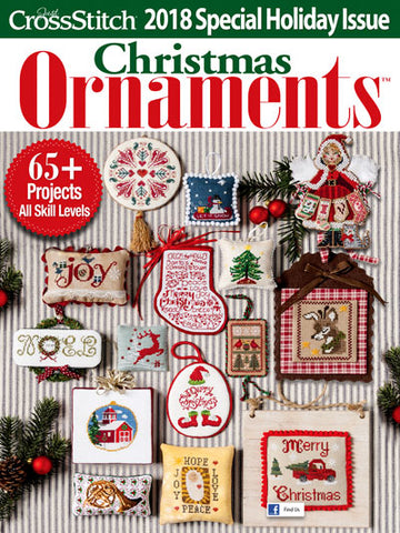 Just Cross Stitch ~  2018 Christmas Ornament Issue