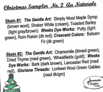 Jeanette Douglas Designs ~ Christmas Sampler Embellishment Pack No. 2 Au Naturale