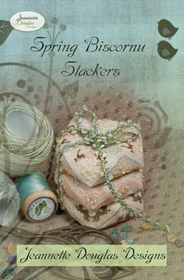 Jeanette Douglas Designs ~ Spring Biscornu Stackers w/embs.