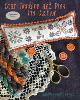 Jeanette Douglas Designs ~ Star Needles And Pins Pincushion