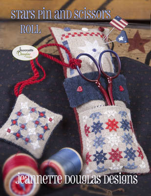 Jeanette Douglas Designs ~ Stars & Pins Scissors Roll