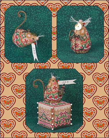 Just Nan ~ Gingerbread Angel Mouse w/embs. ~ Limited Edition