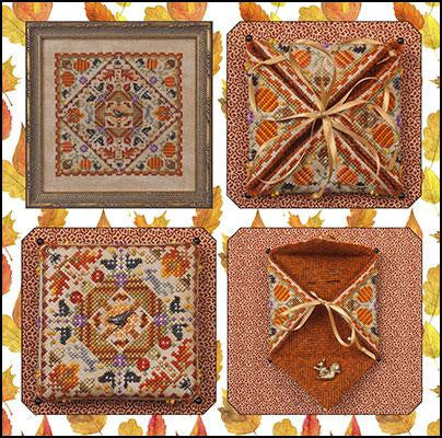Just Nan ~ Autumn in the Meadow w/embs. & Antique Squirrel Bead