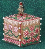 Just Nan ~ Gingerbread Garden Cube w/embs. ~ Limited Edition