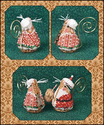 Just Nan ~ Gingerbread Mrs. Santa Mouse w/embs. ~ Limited Edition