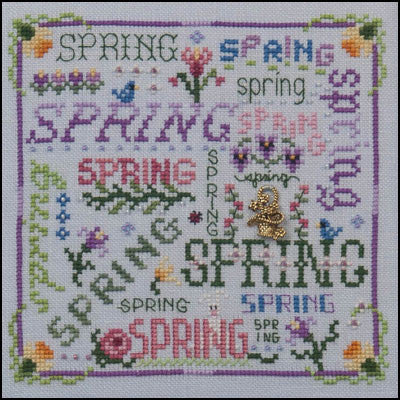 Just Nan ~ Spring Typography w/embs.