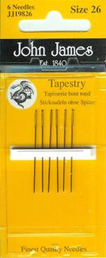 John James Needles ~ Tapestry Size 26 ~ 6pk