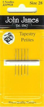 John James Needles ~ Tapestry Petite Size 28 ~ 5pk