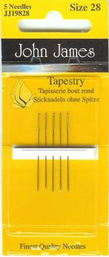 John James Needles ~ Tapestry Size 28 ~ 5pk
