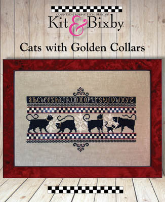 Kit & Bixby ~ Cats with Golden Collars