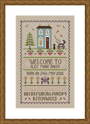 Little Dove Designs ~ New Baby Sampler